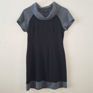 Spence Black & Gray Color Block Cowl Neck Dress 6